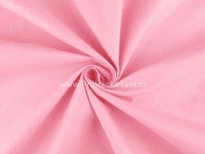 Bavlněná látka růžová