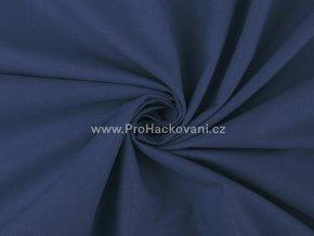 Bavlněná látka tmavě modrá