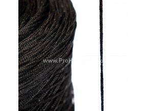 Pruženka roušková kulatá 2,5 mm černá