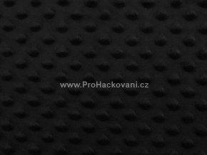 Látka Minky s 3D puntíky černá