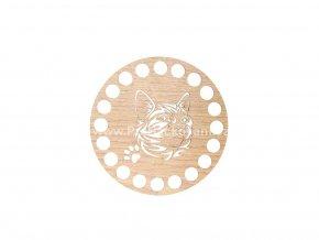 Podšálek dekor dub Ø 10 cm s reliéfem č.8