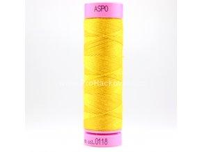 Polyesterová nit 0118 sytě žlutá