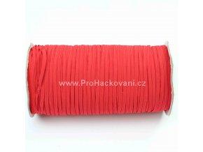 Roušková gumička plochá 3 mm červená