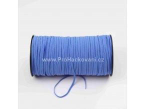 Roušková gumička plochá 3 mm modrá