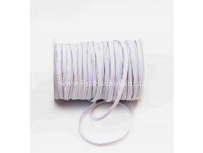 Roušková gumička plochá 3 mm šedostříbrná