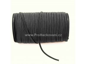 Roušková gumička plochá 5 mm černá
