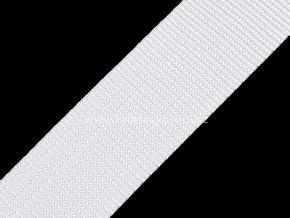 Popruh polypropylénový 4 cm bílý