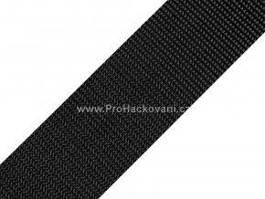 Popruh polypropylénový 4 cm černý
