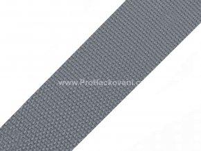 Popruh polypropylénový 4 cm šedý