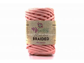 šňůry Macrame Braided 6 mm 27 lososové
