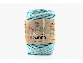 šňůry Macrame Braided 6 mm 13 mentolové