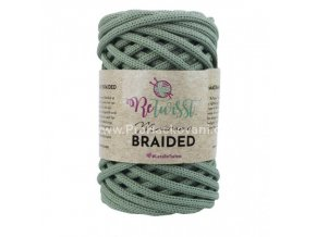 šňůry Macrame Braided 6 mm 16 olivové