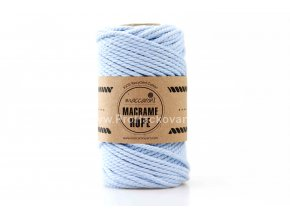 Macrame Rope 4 mm světle modrá