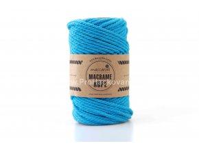 Macrame Rope 4 mm tyrkysově modrá