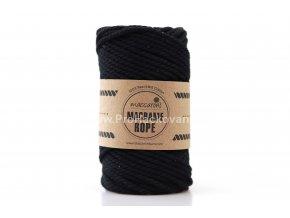 Macrame Rope 4 mm černá