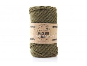 Macrame Rope 4 mm tmavé olivové