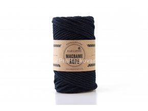 Macrame Rope 4 mm temná modrá