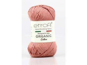 příze Organic Cotton EB031 tmavá starorůžová