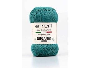 příze Organic Cotton EB012 mořská zeleň