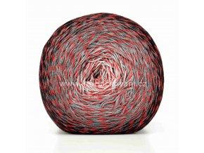 příze Floxy 9935 bílá, červená, šedá, černá