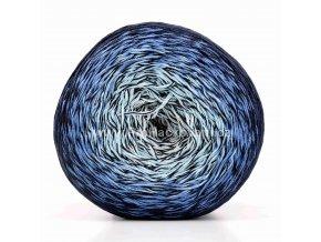 příze Floxy 9940 smetanová, odstíny modré