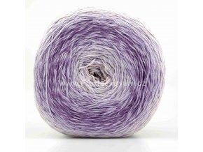 příze Floxy 9948 smetanová, odstíny fialové