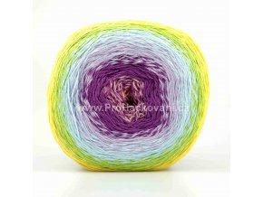 příze Floxy 9941 fialová, světle tyrkysová, zelená, žlutá