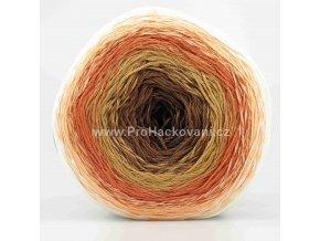 příze Floxy 9945 hnědá, cihlově oranžová, meruňková, smetanová