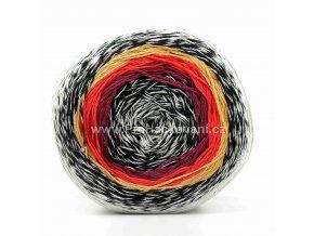 příze Floxy 9934 šedá, černá, vínová, červená, hnědá