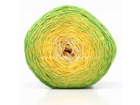 příze Floxy 9939 smetanová, žlutá, zelená