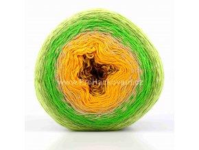 příze Floxy 9944 hnědá, oranžová, zelená