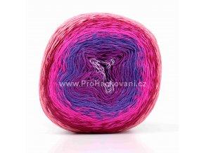 příze Floxy 9942 odstíny fialové a růžové, vínová