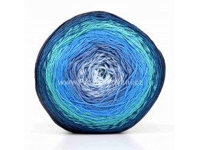 příze Floxy 9943 odstíny modré, černá, krémově bílá