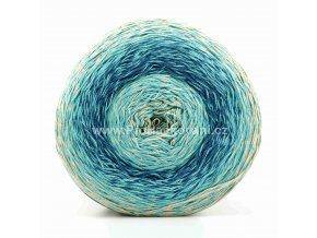 příze Floxy 9946 krémová, tyrkysová, modrá
