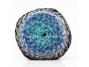 příze Floxy 9938 světle šedá, modrá, tyrkysová, černá