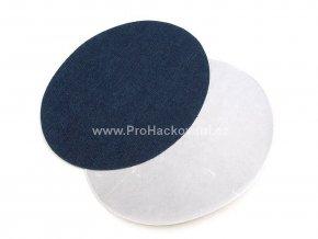 Nažehlovací záplata riflová oválná 11x14 cm tmavě modrá 2 ks