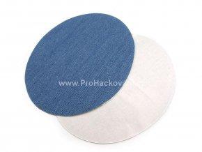 Nažehlovací záplata riflová oválná 11x14 cm modrá 2 ks
