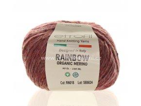 příze Rainbow Organic Merino 012 sytá růžová