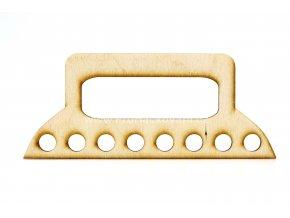 Ucha na kabelky dřevěná topol