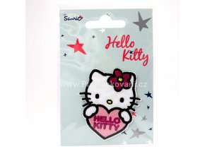 Nažehlovačka Hello Kitty se srdíčkem