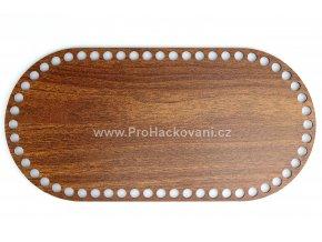Dno na košík dekor ořech oválné 28,5 x 14 cm
