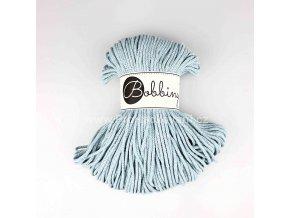 Bobbiny šňůry junior 3mm Světle ledově modrá se stříbrnou nitkou (Silverly Misty)