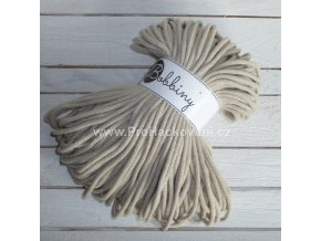 Bobbiny šňůry, 100% bavlna - béžové