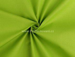 Bavlněná látka výrazná zelená