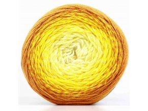příze Flowers Merino 552 smetanová, odstíny žluté, tmavá hořčicová