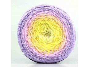 příze Flowers Merino 545 smetanová, žlutá, růžová, fialková