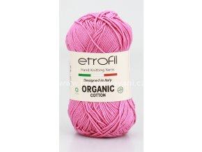 příze Organic Cotton EB004  růžová
