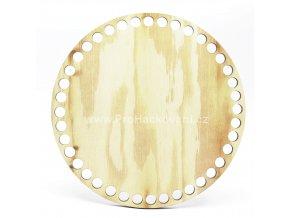 36920 dno na kosik dekor borovice kruh 17 cm
