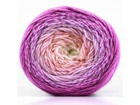 příze Flowers Merino 531 smetanová, starorůžová, odstíny fialové