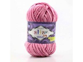 příze Velluto 98 fialkově růžová